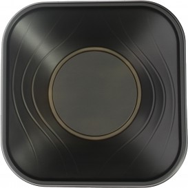 "Bol de Plastico PP ""X-Table"" Cuadrado Negro 180x180mm (8 Uds)"
