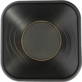 "Bol Plastico PP Cuadrado ""X-Table"" Negro 18x18cm (120 Uds)"