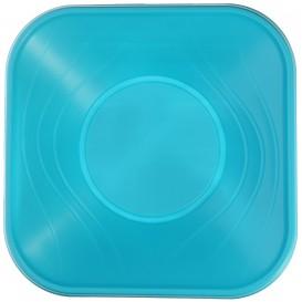 """Bol Plastico PP Cuadrado """"X-Table"""" Turquesa 18x18cm (8 Uds)"""