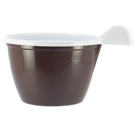 Taza de Plastico PS Chocolate 100 ml (20 Unidades)