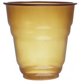 Vaso de Plastico PS Vending Design Marrón 166ml (100 Uds)