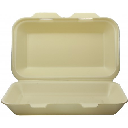 Envase Foam LunchBox Champagne 240x155x70mm (125 Uds)