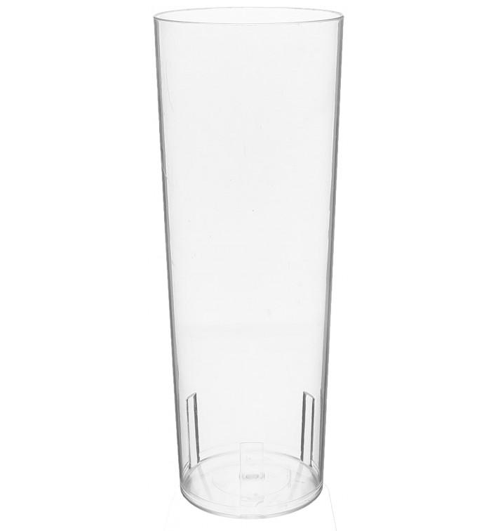 Vaso Tubo de Plastico Cristal PS 330 ml (10 Uds)