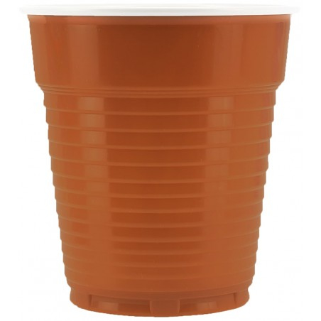 Vaso de Plastico PS Vending Marron 166ml Ø7,0cm (100 Uds)