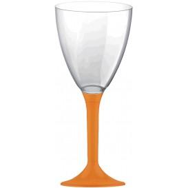 Copa Plastico Vino Pie Naranja 180ml 2P (200 Uds)