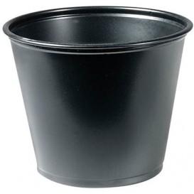 Tarrina de Plastico PP Salsas Negra 165ml Ø73mm (2500 Uds)