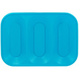"Bandeja Plastico PP ""X-Table"" 3C Turquesa 330x230mm (2 Uds)"