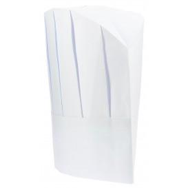 Gorro Cocinero Continental  Papel  Blanco (10 Uds)