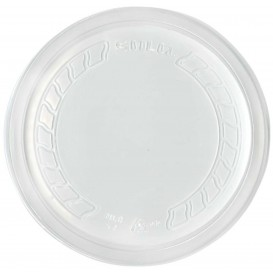 """Tapa de Plastico PP """"Deli"""" Translucido Ø120mm (500 Uds)"""