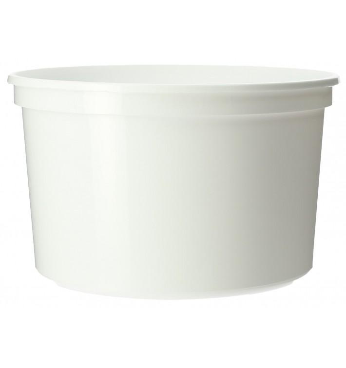 Tarrina de Plastico Blanca PP 500ml Ø11,5cm (500 Uds)