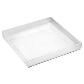 Bandeja Plastico Tray Transparente 30x30cm (1 Ud)