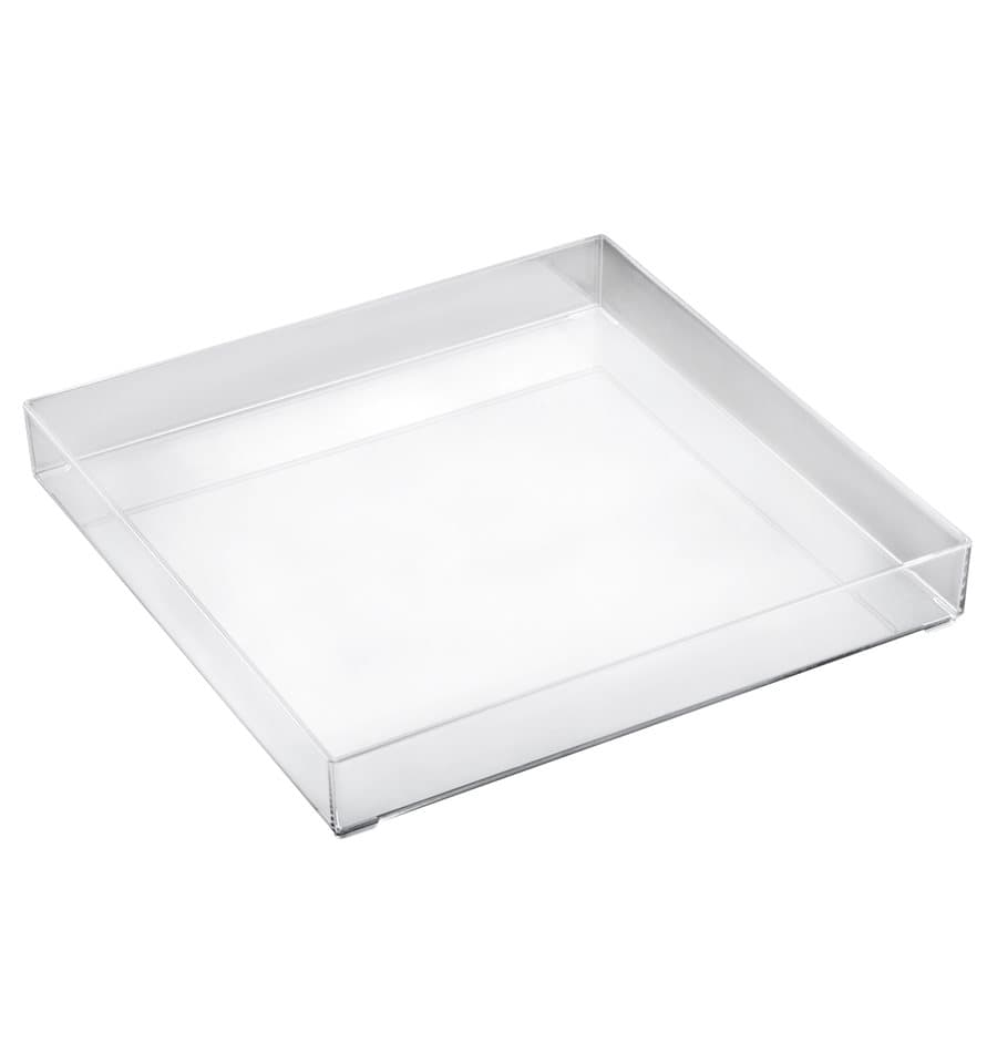 Bandeja plastico tray transparente 30x30cm 9 uds - Bandeja de plastico ...