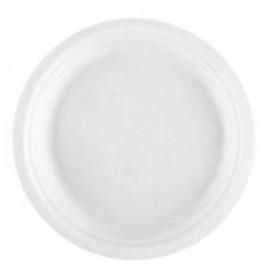 Plato Caña de Azucar Blanco Ø230mm (50 Uds)