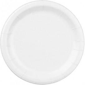 Plato de Papel Blanco 22 cm (400 Uds)