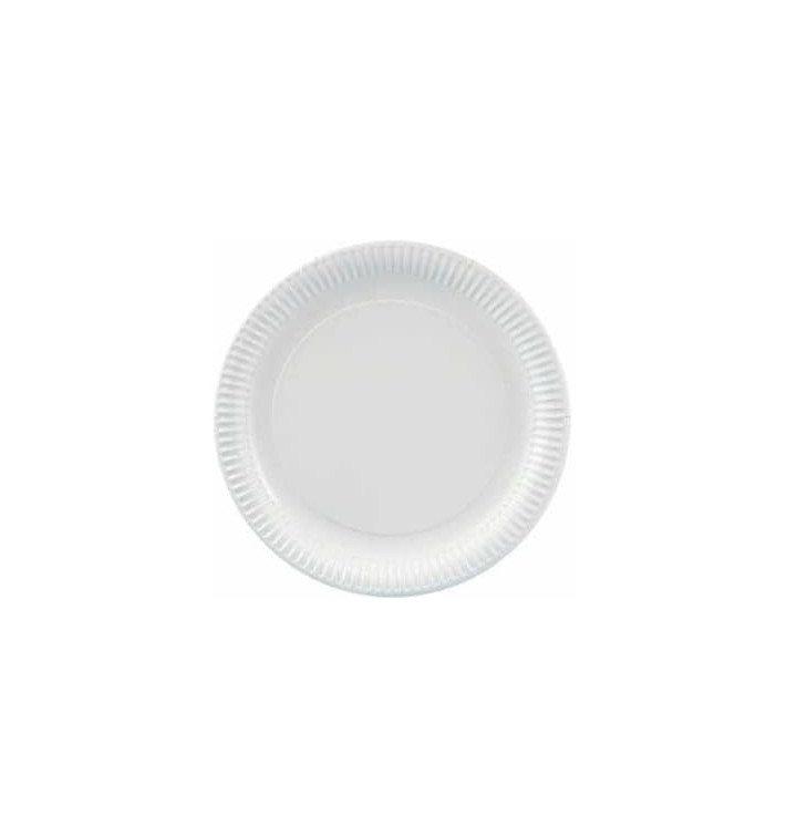Plato de Carton Redondo 210 mm (100 Uds)