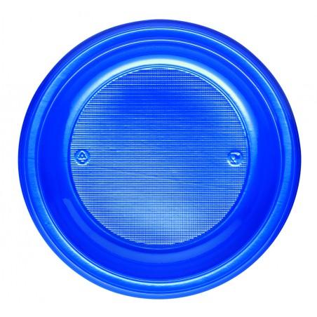 Plato de Plastico Hondo Azul Oscuro PS 220 mm (30 Uds)