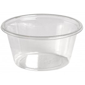 Tarrina de Plastico rPET para Salsas 60ml Ø62mm (250 Uds)