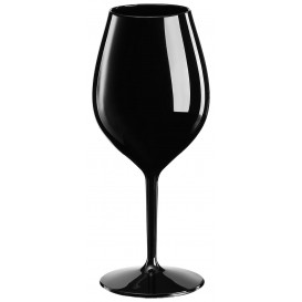 Copa Reutilizable para Vino Tritan Negro 510ml (6 Uds)