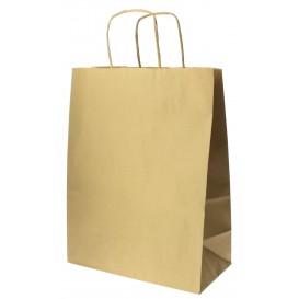 Bolsa Papel Kraft Hawanna con Asas 100g 24+12x31 cm (250 Uds)