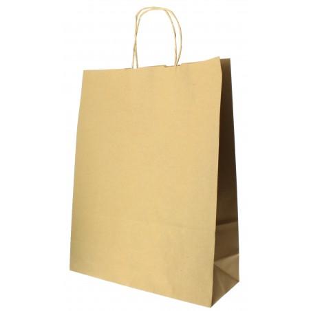 Bolsa Papel Kraft Hawanna con Asas 100g 32+12x41 cm (200 Uds)