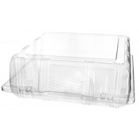 Envase Tapa Bisagra Repostería PET 22x22x8cm (20 Uds)