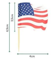 """Pinchos Banderita """"USA"""" 65mm (144 Uds)"""