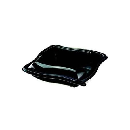 Bol Ondulado Negro de Plastico PET  1000cc (400 Uds)