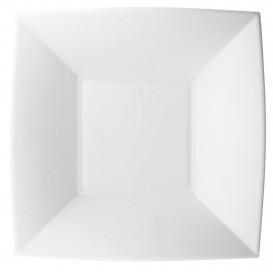 Plato Hondo Caña Azucar Nice Blanco 180x180mm (50 Uds)