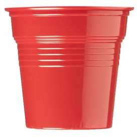 Vaso de Plástico PS Rojo 80ml Ø5,7cm (1500 Uds)