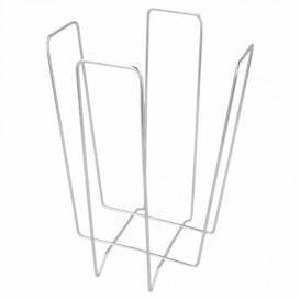 Servilletero de Alambre Plata 22x22x18cm (12 Uds)