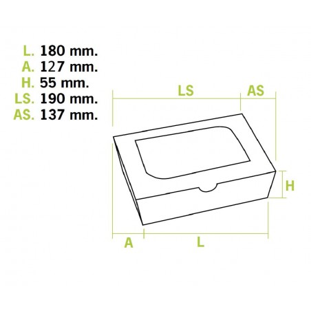 Envase de Carton Premium 18x12,7x5,5cm 1000ml (175 Uds)