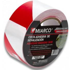 Cinta Adhesiva Señalización 5cmx33m Blanca/Roja (1 Ud)