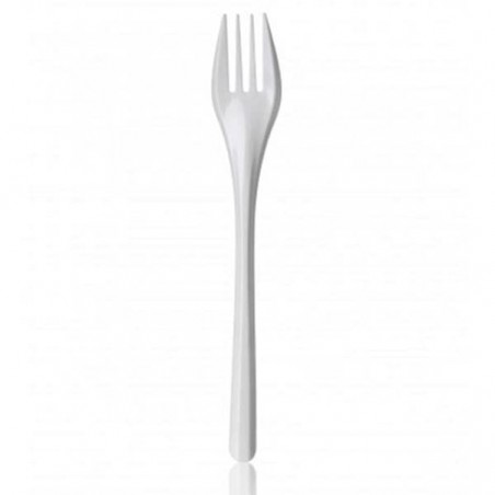 Tenedor de Plastico PS Blanco 165mm (2.000 Uds)