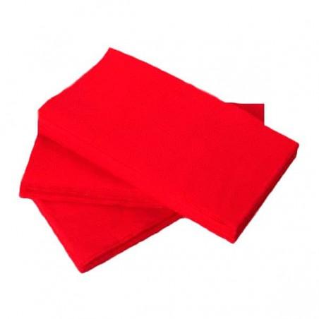 Servilleta de Papel 1/8 40x40 Rojo (1.200 Uds)