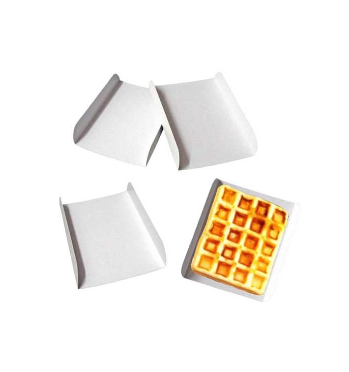 Bandeja de Carton Blanco para Gofres 13,5x10cm (1500 Uds)