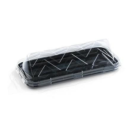 Bandeja Plastico Catering Rectang. Mármol 35X16 cm (50 Uds)