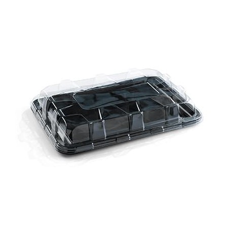 Bandeja Plastico Catering Rectang. Negra 35X24 cm (50 Uds)