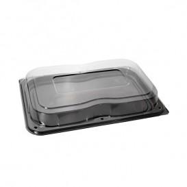 Bandeja Plastico con Tapa Negra 46x30 cm (25 Packs)