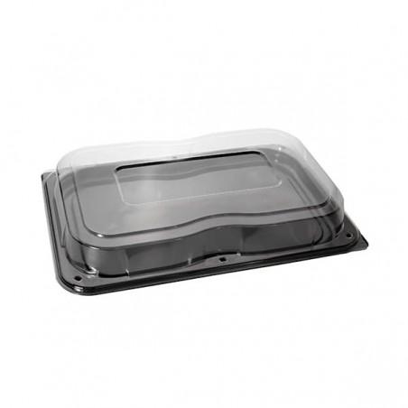 Bandeja Plastico Catering Tapa Negro 46x30 cm (25 Uds)
