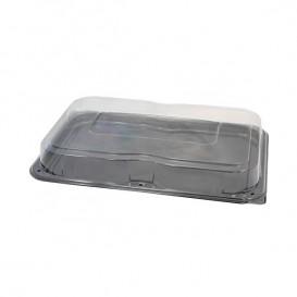 Bandeja Plastico Catering Tapa Negro 55x37 cm (25 Uds)