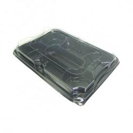 Bandeja Plastico Catering 7 C. con Tapa 35x24 cm (25 Packs)