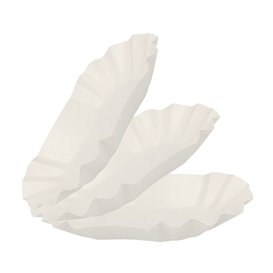 Bandeja de Cartón Ovalada Plastificada 15,5x9,5x2,5cm (1000 Uds)