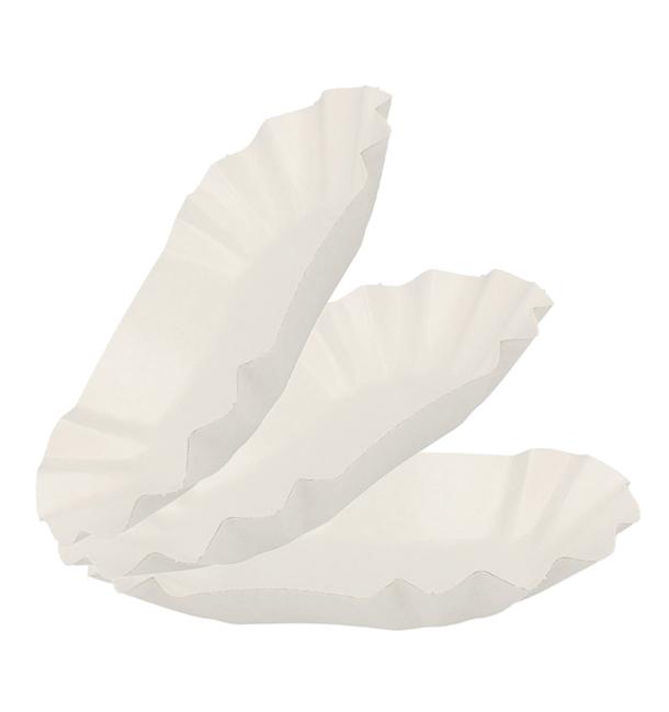 Bandeja de Cartón Ovalada Plastificada 16,5x10x3,5cm (1000 Uds)