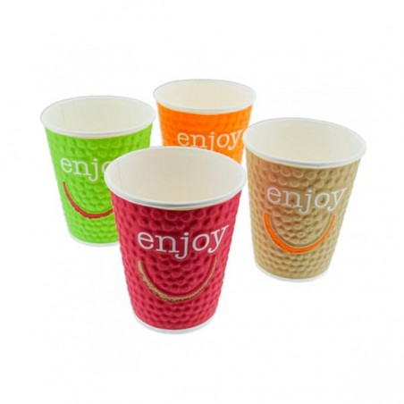 Vaso de Carton Enjoy de 9Oz/270ml (35 Unidades)