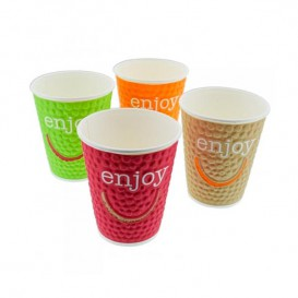 "Vaso Cartón 12 Oz/403ml ""Enjoy"" Ø9,0cm (34 Uds)"
