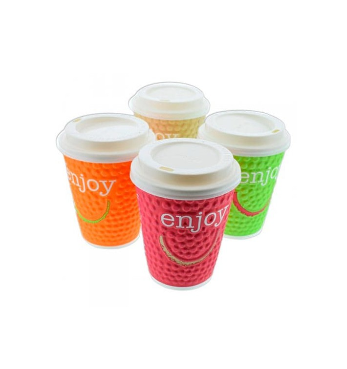 "Vaso Cartón 16 Oz/495ml ""Enjoy"" Ø9,0cm (560 Uds)"
