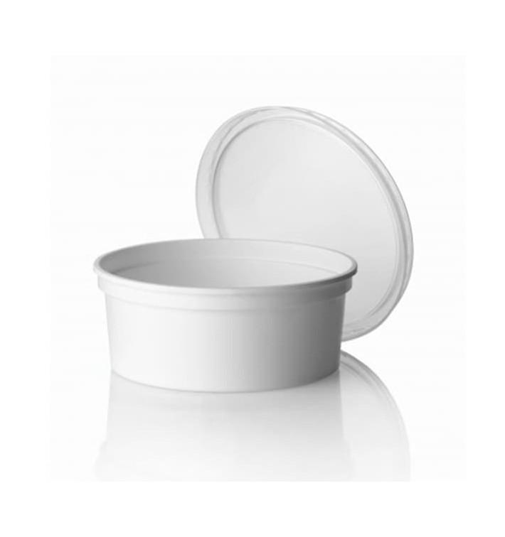 Tarrina de Plastico Blanca 350ml Ø11,5cm (50 Uds)