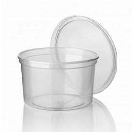 Tarrina de Plastico Transparente PP 500ml Ø11,5cm (500 Uds)