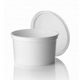 Tarrina de Plastico Blanca PP 500ml Ø11,5cm (50 Uds)