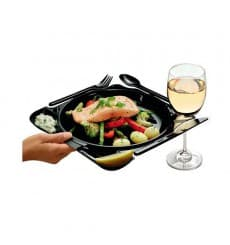 Plato y Cubiertos Caterplate (48 Uds)